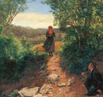 Na slici iz 1860.godine devojka ''tipka na mobilnom telefonu''?! 5007