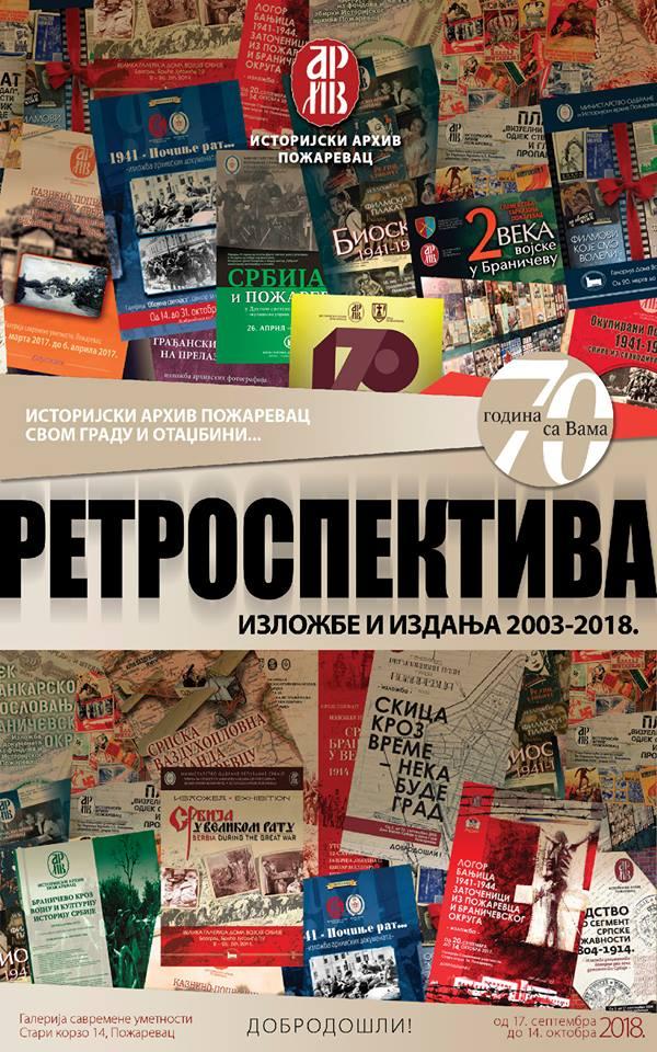 RETROSPEKTIVA – izložbe i izdanja 2003-2018 – Istorijski arhiv Požarevac svom Gradu i Otadžbini 8186
