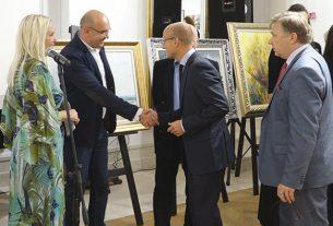"""Otvorena Međunarodna izložba """"Umetnost bez granica"""" u Ruskom domu u Beogradu 8896"""