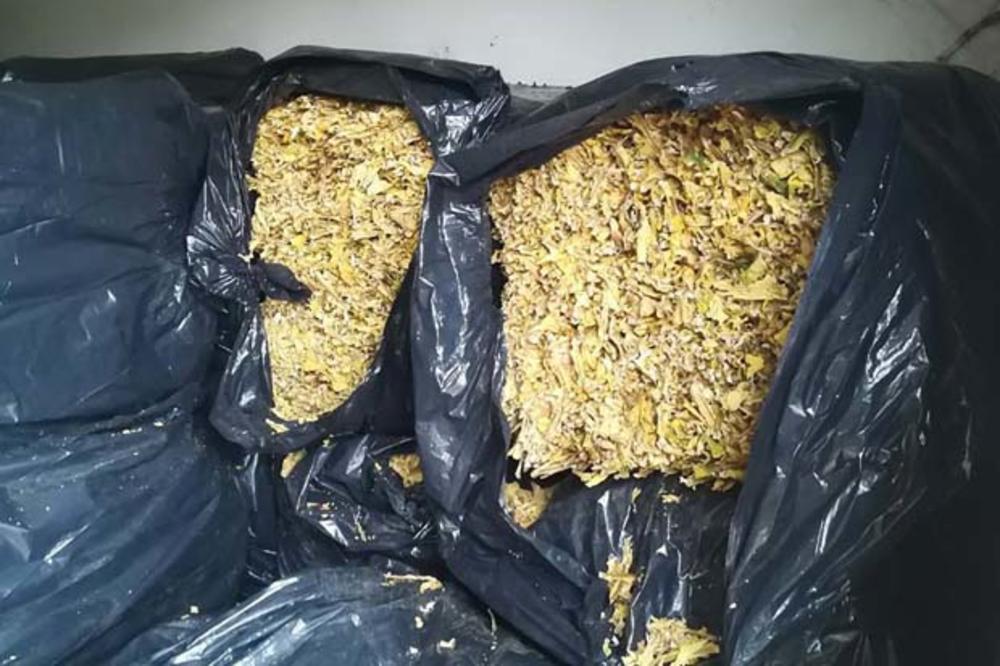 Akcija policije: Zaplenjeno 62 kilograma rezanog duvana 16034