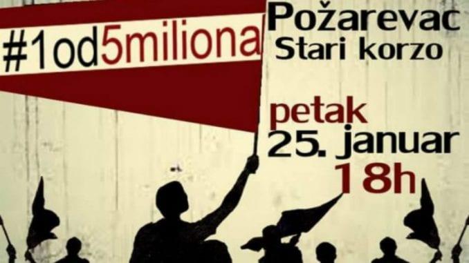 Građanski protesti 25. januara i u Požarevcu 13984