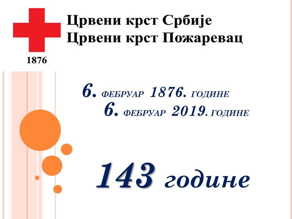 Crveni Krst Požarevac - 143. godine HUMANOSTI 14676