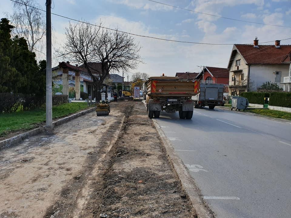Otpočeti radovi na rekonstrukciji i izgradnji trotoara u Ulici Srpskih vladara 17025