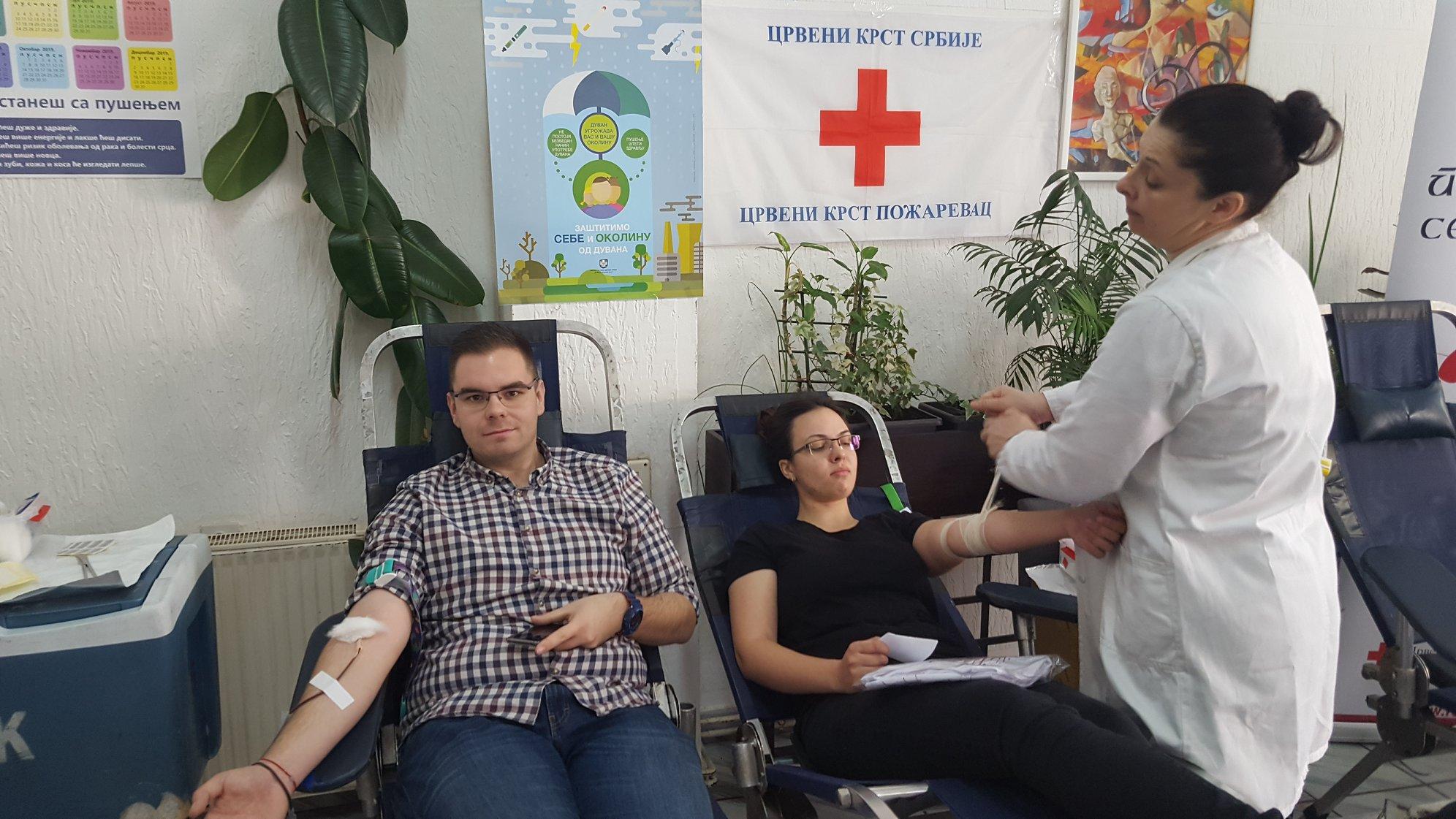 """Akcija dobrovoljnog davanja krvi """" Doniraj krv za presto """" u Požarevcu FOTO 16682"""