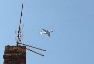 Transportni avion iznad Požarevca FOTO 19882