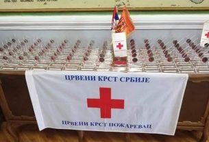 Crveni krst Požarevac: Uručeni znakovi priznanja dobrovoljnim davaocima krvi koji su 100, 75, 50 i 35 puta dobrovoljno dali krv 19916