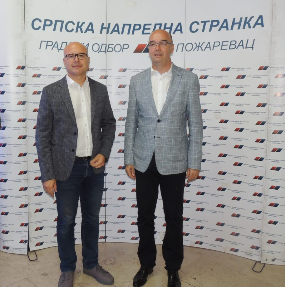 Potpredsednik Srpske napredne stranke Miloš Vučević u Požarevcu 24651