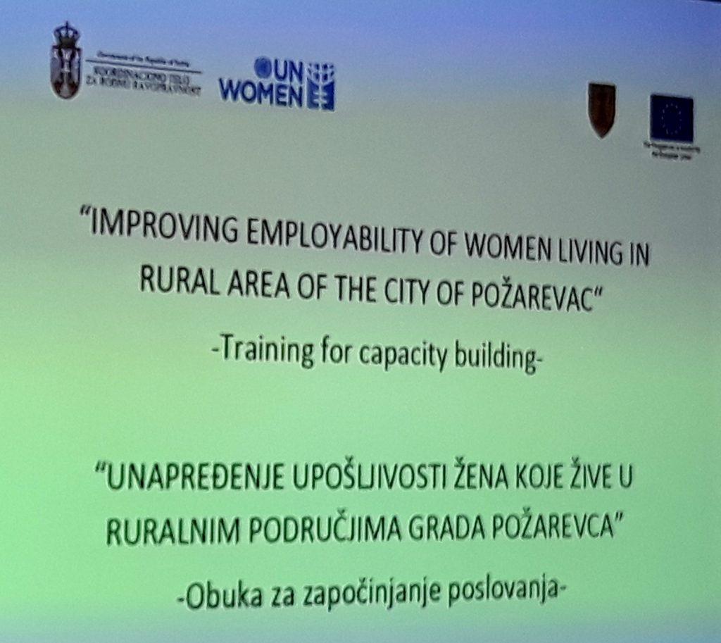 Započeta obuka u okviru projekta ,,Unapređenje upošljivosti žena koje žive u ruralnim područjima'' 25398