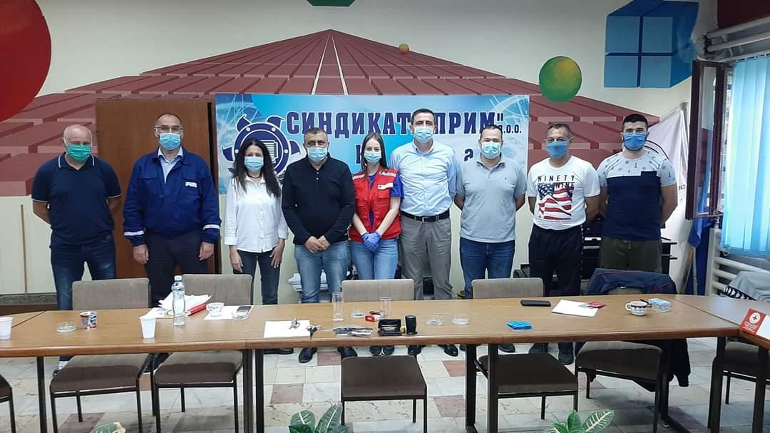 """Akcija dobrovoljnog davanja krvi u P.D.""""PRIM"""" Kostolac 35541"""