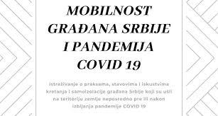 Istraživanje: Mobilnost građana Srbije i pandemija COVID-19 35436