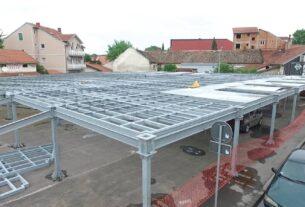 Nastavljeni radovi na izgradnji montažne parking garaže u Takovskoj ulici u Požarevcu 37175