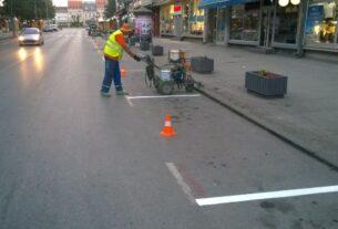 """JP """"Parking servis"""" Požarevac: radovi na održavanju signalizacije 40754"""