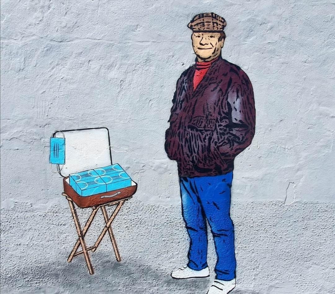 """Del Boj: Osvanuo mural na kom prodaje maske na """"kući Nelsona Mandele"""" 39606"""