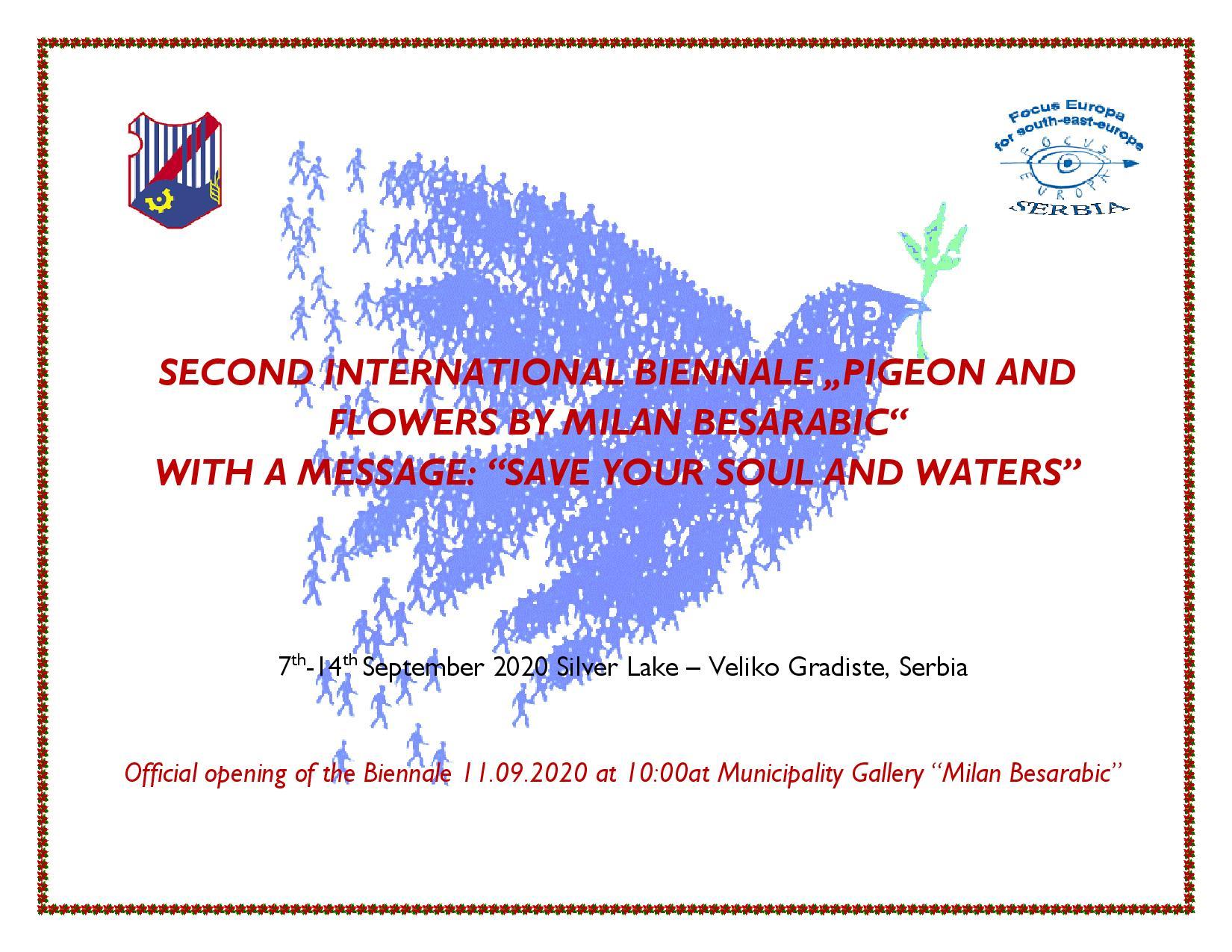 2. Međunarodno bijenale ''Golub i cveće Milana Besarabića'' u  Velikom Gradištu 41323
